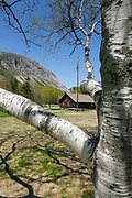 Franconia Notch State Park - Cannon Mountain during the spring months. Located in the White Mountains, New Hampshire USA