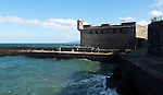 Puerto de la Cruz, Tenerife, Spain; December 27, 2012 -- The Battery of St. Barbara, next to Plaza de Europa -- Photo: © HorstWagner.eu