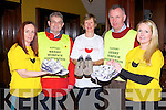 TRALEE MARATHON: Runners taking part in the Tralee Marathon on March 16th in aid of the Kerry Hospice Foundation at the Grand hotel, Tralee on Tuesday l-r: Mary Smullen (runner), Ted Moynihan (County chairman Kerry Hospice Foundation), Maura Sullivan (treasurer Kerry Hospice Foundation and runner), Dan Galvin (Tralee chairman Kerry Hospice Foundation) and Carmel Ross (runner).