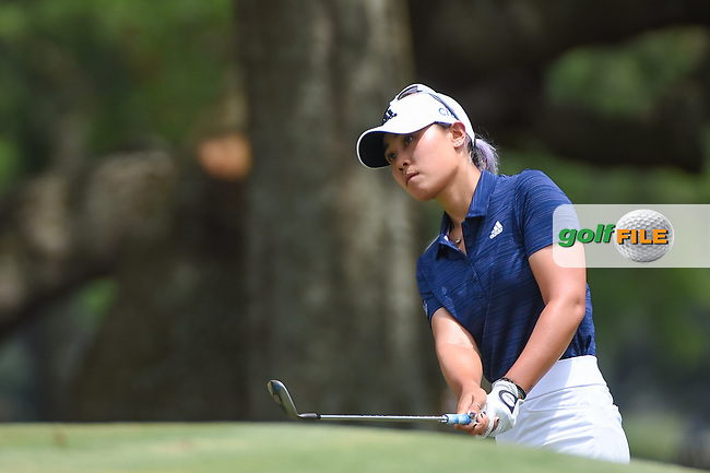Danielle Kang (USA) chips on to 1 during round 2 of the 2019 US Women's Open, Charleston Country Club, Charleston, South Carolina,  USA. 5/31/2019.<br /> Picture: Golffile | Ken Murray<br /> <br /> All photo usage must carry mandatory copyright credit (© Golffile | Ken Murray)