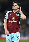 James Tarkowski of Burnley during the premier league match at the Turf Moor Stadium, Burnley. Picture date 19th April 2018. Picture credit should read: Simon Bellis/Sportimage
