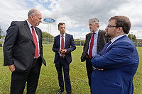 Pictured: Assembly Member Ken Skates (2nd L) with colleagues outside the Ford engine plant in Bridgend, Wales, UK. Thursday 06 June 2019<br /> Re: An announcement on the proposed closure of Ford's Bridgend plant will be made today (Thursday).<br /> Ford Europe and bosses from the United States will meet union leaders at its Essex headquarters.<br /> The plant employs 1,700 workers from across south Wales.