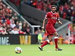 Liverpool's Joe Gomez in action during the premier league match at the Anfield Stadium, Liverpool. Picture date 19th August 2017. Picture credit should read: David Klein/Sportimage