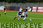 Kerry's Sean Kennedy beats Cobh Ramblers Sam Driscoll and hits a low hard strike from just outside the area to score Kerrys 3rd goal, when the sides met at Mounthawk park, Tralee last Saturday.