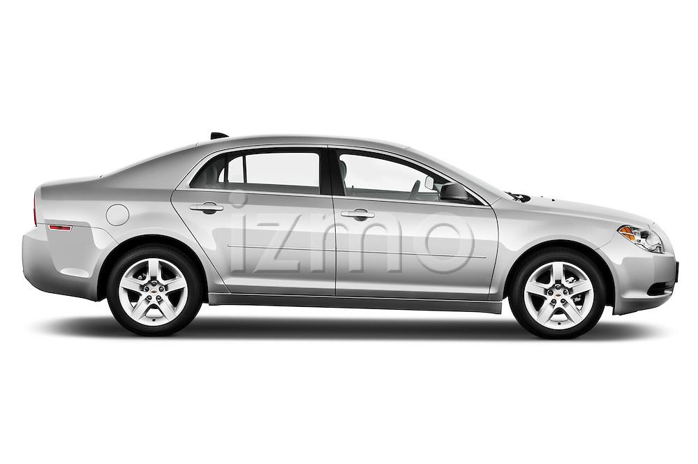 Passenger side profile view of a 2012 Chevrolet Malibu 1LS .