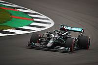 1st August 2020, Silverstone, Northampton, UK; FIA Formula One World Championship 2020, Grand Prix of Great Britain,  qualifying;  44 Lewis Hamilton GBR, Mercedes-AMG Petronas Formula One Team on his way to winning pole