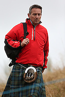 Tartan Tuesday brings out the best of clan colours during the first practice day ahead of the 2014 Ryder Cup at Gleneagles, Perthshire, Scotland 26th to 28th September 2014. Picture David Lloyd / www.golffile.ie.
