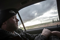 Dimitri Bontinck, a 39 years old belgium drives towards to undisclosed location after he got information about his son's whereabouts in outskirts of Aleppo City. Dimitri's son, Jejoen is a youth belgium who has turned himself into a Islamic fighter who is battling Syrian government army beside radical Muslim groups at the northern of Syria.