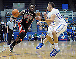 February 14, 2015 - Colorado Springs, Colorado, U.S. -  UNLV guard, Jordan Cornish #3, drives for the basket during an NCAA basketball game between the UNLV Runnin' Rebels and the Air Force Academy Falcons at Clune Arena, U.S. Air Force Academy, Colorado Springs, Colorado.  Air Force defeats UNLV 76-75.