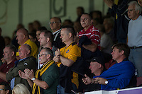 Newport fans during the Sky Bet League 2 match between Newport County and Cheltenham Town at Rodney Parade, Newport, Wales on 10 September 2016. Photo by Mark  Hawkins / PRiME Media Images.