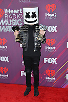LOS ANGELES, CA. March 14, 2019: Marshmello at the 2019 iHeartRadio Music Awards at the Microsoft Theatre.<br /> Picture: Paul Smith/Featureflash
