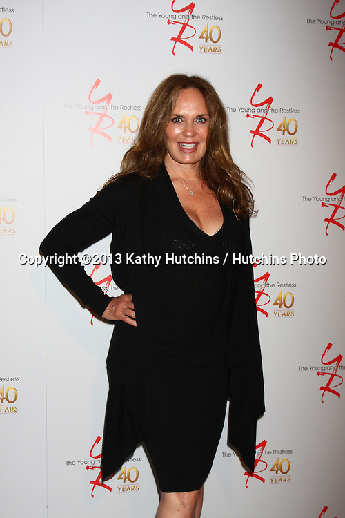 LOS ANGELES - MAR 26:  Catherine Bach attends the 40th Anniversary of the Young and the Restless Celebration at the CBS Television City on March 26, 2013 in Los Angeles, CA