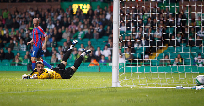 Jonny Tuffey looks round in despair as Georgios Samaras' shot hits the net for his hat-trick