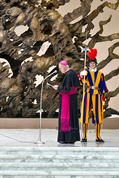 VATICANO 16/03/2012: L'annuncio dell'arrivo di Papa Francesco nell'aula Paolo VI. Foto Adamo Di Loreto/buenaVista* photo