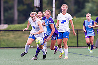 Allston, MA - Sunday July 31, 2016: Kathryn Schoepfer, Dani Weatherholt during a regular season National Women's Soccer League (NWSL) match between the Boston Breakers and the Orlando Pride at Jordan Field.