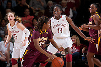 STANFORD, CA - January 8, 2011: Chiney Ogwumike of the Stanford Cardinal women's basketball team during Stanford's game against Arizona State at Maples Pavilion. Stanford won 82-35.