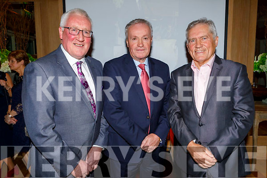 Pat Spillane, Mikey Sheehy and Ger Power guests of honour at the Kerry Supporters Social in the Ballygarry House Hotel on Saturday.