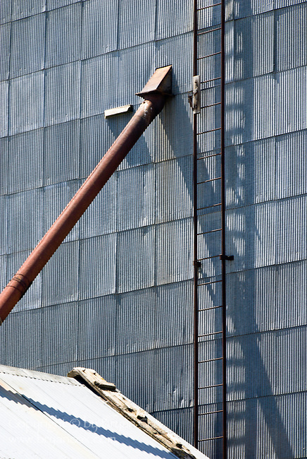 Detail of a grain elevator in eastern Oregon