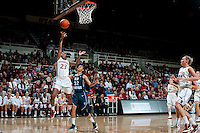 STANFORD, CA - NOVEMBER 17: Jasmine Camp scores two as Stanford hosted Old Dominion University at Maples Pavilion. The Cardinal defeated Big Blue 97-48.