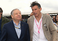 Jean Todt and Lord Sebastian Coe during the Formula 1 Rolex British Grand Prix 2019 at Silverstone Circuit, Towcester, England on 14 July 2019. Photo by Vince  Mignott.