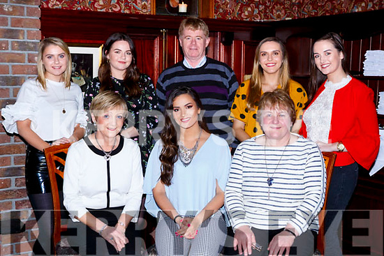 Prema Bhuiyan, Gneeveguilla celebrated her 21st birthday with her family in the International hotel Killarney on Saturday night front row l-r: Kathleen and Prema Bhuiyan and Maureen Cremin. Back row: Aoife, Maria and Donal Cremin, Mairead Breen and Juliet O'Shea