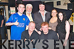 HOMECOMING GIG: Francie Conway playing his Homecoming Gig at Mac's bar now called Joe Place, Tralee on Tuesday seated l-r: Joe O'Connor and Francie Conway. Back l-r: Fergal Keane, Johnny Wall, Mark Leen, Pamela O'Connor and Catherine O'Connor.