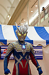 Ultraman show featuring Ultraman Zero and Ultraman Seven at a shopping mall in Yamato City, Kanagawa, Japan. January 3rd 2011