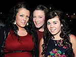 Lorna Brannigan, Natalie McArdle and Jessica Dyas pictured at James Guinn's 18th birthday in the Star and Crescent. Photo: Colin Bell/pressphotos.ie