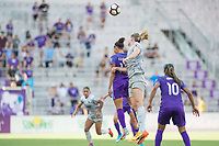 Orlando, FL - Sunday May 14, 2017: Kristen Edmonds during a regular season National Women's Soccer League (NWSL) match between the Orlando Pride and the North Carolina Courage at Orlando City Stadium.