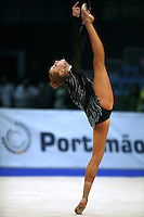 Natalya Godunko of Ukraine balances with leg forward at 2008 Portimao World Cup of Rhythmic Gymnastics on April 20, 2008.  (Photo by Tom Theobald).