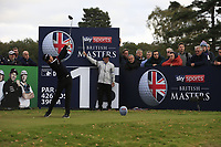 Jeunghun Wang (KOR) on the 15th tee during Round 1of the Sky Sports British Masters at Walton Heath Golf Club in Tadworth, Surrey, England on Thursday 11th Oct 2018.<br /> Picture:  Thos Caffrey | Golffile<br /> <br /> All photo usage must carry mandatory copyright credit (© Golffile | Thos Caffrey)