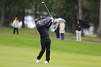 Ryan Fox (NZL) plays his 2nd shot on the 1st hole during Saturday's Round 3 of the 2017 Omega European Masters held at Golf Club Crans-Sur-Sierre, Crans Montana, Switzerland. 9th September 2017.<br /> Picture: Eoin Clarke | Golffile<br /> <br /> <br /> All photos usage must carry mandatory copyright credit (&copy; Golffile | Eoin Clarke)