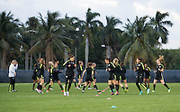 Boca Raton, FL - March 8, 2016: The USWNT trains in preparation for the game against Germany in the SheBelieves Cup at FAU Stadium.