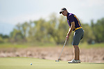 19 MAY 2016: Calum Hill of Western New Mexico attempts a putt during the 2016 Division II Men's Individual Golf Championship held at Green Valley Ranch Golf Club in Denver, CO. Justin Tafoya/NCAA Photos