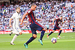 Real Madrid's player Nacho Fernandez and Eibar FC's player Pedro Leon Sanchez during a match of La Liga Santander at Santiago Bernabeu Stadium in Madrid. October 02, Spain. 2016. (ALTERPHOTOS/BorjaB.Hojas)