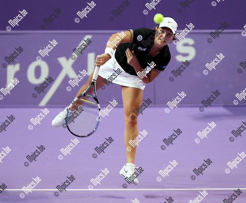 2008-02-09 / Tennis / Diamond Games Antwerpen / Kirsten Flipkens tijdens de eerste kwalificatieronde..Foto: Maarten Straetemans (SMB)