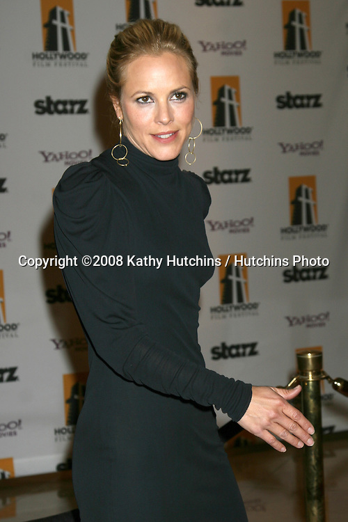 Maria Bello arriving to the Hollywood Film Festival Awards Gala at the Beverly Hilton Hotel in Beverly Hills, CA  on.October 27, 2008.©2008 Kathy Hutchins / Hutchins Photo...                .