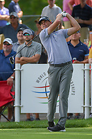 Brendan Steele (USA) watches his tee shot on 18 during 2nd round of the World Golf Championships - Bridgestone Invitational, at the Firestone Country Club, Akron, Ohio. 8/3/2018.<br /> Picture: Golffile | Ken Murray<br /> <br /> <br /> All photo usage must carry mandatory copyright credit (© Golffile | Ken Murray)