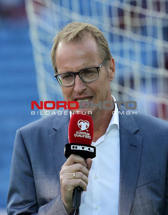 EM 2015 Qualifikationsspiel, Gibraltar vs. Deutschland<br /> Florian K&ouml;nig (RTL)<br /> <br /> <br /> Foto &copy; nordphoto /  Bratic