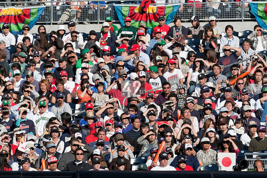 15 March 2009: General view of the audience during the 2009 World Baseball Classic Pool 1 game 1 at Petco Park in San Diego, California, USA. Japan wins 6-0 over Cuba.