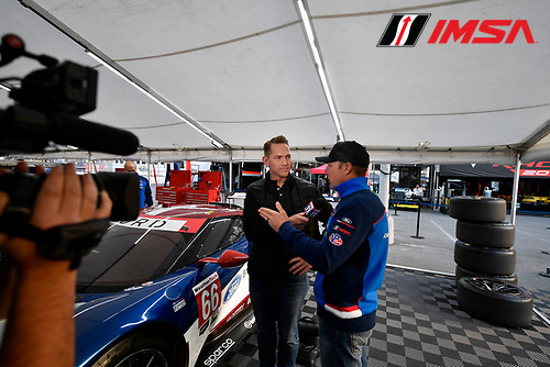 #66 Chip Ganassi Racing Ford GT, GTLM: Joey Hand, local TV interview