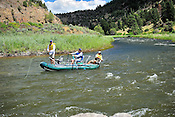 Fishermen & Women floating the Upper Colorado River fishing between Rancho Del Rio and State Bridge on August 5, 2014.