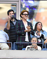 FLUSHING NY- SEPTEMBER 09: ***NO NY DAILIES*** Actor Alan Cumming takes cell phone photos before the start of The Madison Keys and Sloane Stephens match. Stephens defeats Keys in straight sets 6-3, 6-0 during the Womens finals on Arthur Ashe Stadium at the US Open in the USTA Billie Jean King National Tennis Center on September 9, 2017 in Flushing Queens. <br /> CAP/MPI04<br /> &copy;MPI04/Capital Pictures