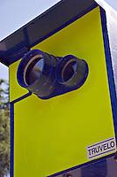 Traffic driving past a Truvelo speed camera outside a school UK..©shoutpictures.com..john@shoutpictures.com