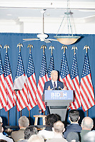 Democratic presidential candidate and former Vice President Joe Biden speaks at a campaign event at the Governor's Inn and Restaurant in Rochester, New Hampshire, on Wed., October 9, 2019. At this event, Biden said for the first time that he supported the impeachment inquiry against current President Donald Trump.