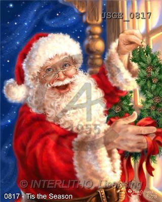 Dona Gelsinger, CHRISTMAS SANTA, SNOWMAN, classical, paintings(USGE0817,#X#) Weihnachtsmänner, Papá Noel, Weihnachten, Navidad, illustrations, pinturas klassisch, clásico