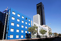 Moderne kantoren, o.a. van Achmea, in Leeuwarden