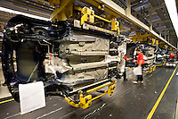 Manufactoring workers producing cars at the BMW Mini plant at Cowley Oxford...© SHOUT..Exact date unknown.john@shoutpictures.com.www.shoutpictures.com