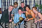 Oscars: Winners at the Killorglin Panto Group Social and Oscars night in the Top Deck Bar in Killorglin on Friday evening were Declan Mangan, Paul Walker, Neilus Curran, Paula Lucey and Chris McGillycuddy (seated centre) who was awarded the Ball and Chain Award (all from Killorglin)..