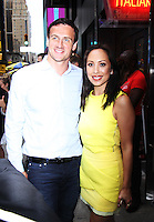 NEW YORK, NY-September 07: Cheryl Burke, Ryan Lochte at The Stars of Dancing with Stars Season 23 Press Junket  at Planet Hollywood Time Square in New York. NY September 07, 2016. Credit:RW/MediaPunch